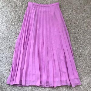 ASOS Pink High Waisted Midi Skirt